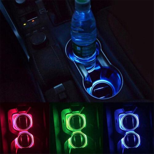 USB Tasse Pad Autozubehör LED Licht Abdeckungs Innenbeleuchtung beleuchtet DE