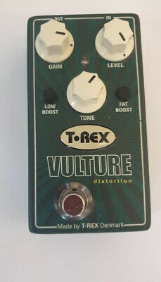 Stunning T-Rex Vulture Distortion Overdrive Crunch Boost Guitar Effects FX Pedal