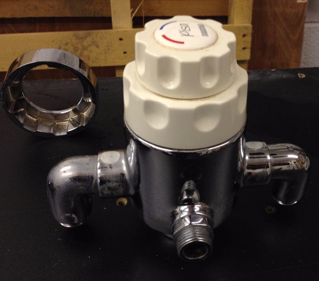 "2x Bristan ""Pisa"" chrome mixer shower control (valve"