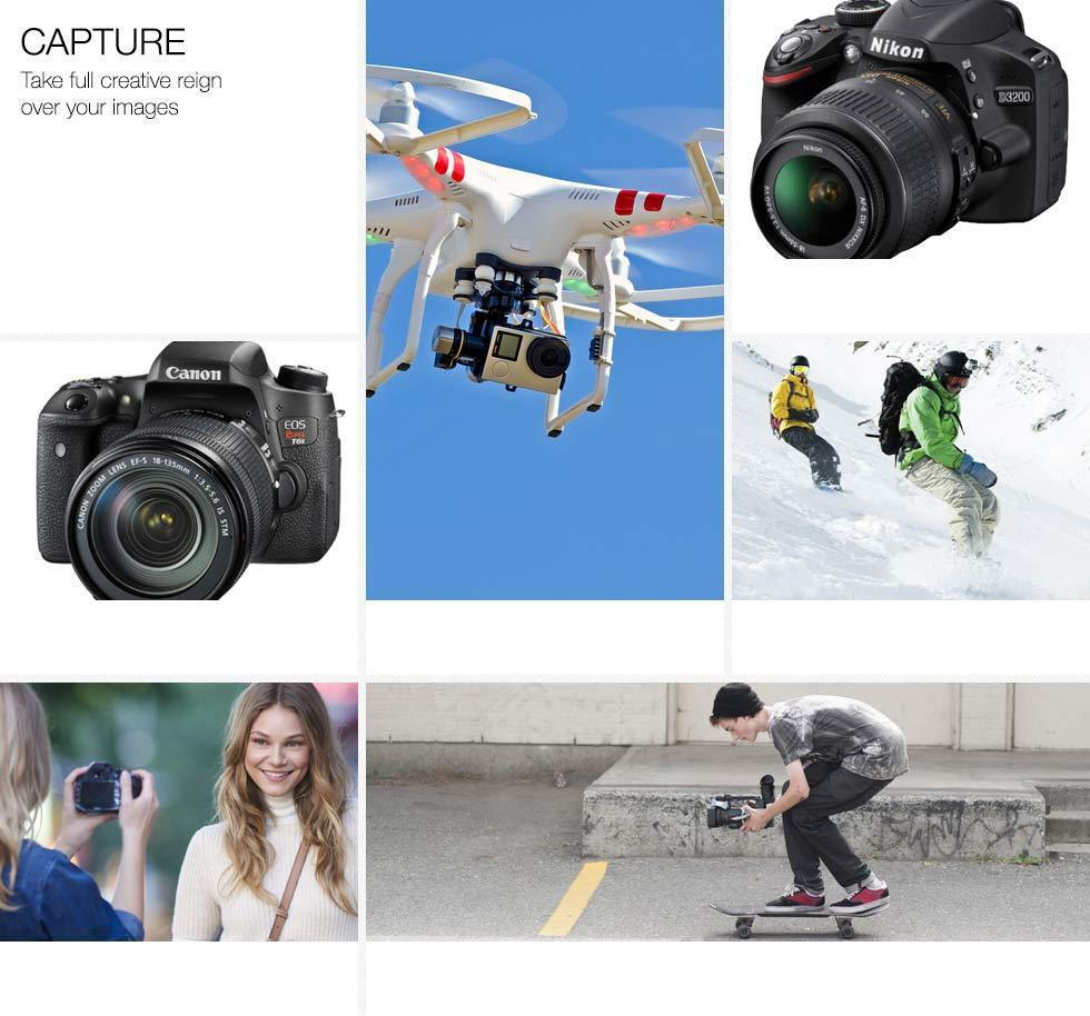 Capture. Take full creative reign over you images.