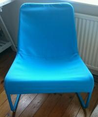IKEA LOCKSTA Lounge Chair - Blue   in Haywards Heath, West ...