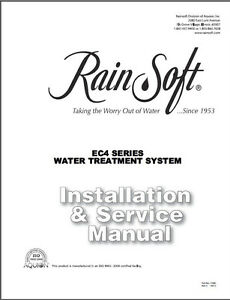 Digital PDF Manuals on CD for Rain Soft EC4 Oxytech Water