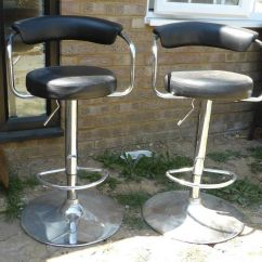 Chair Stool Argos Unfinished Rocking Two Bar Stools Adjustable Chrome And Black Table Chairs Seats