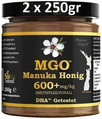 MANUKAHONIG MGO® 600+ 500gr MGO 250 400 550 800 MANUKA HONIG UMF 15 16 20 ** NEU