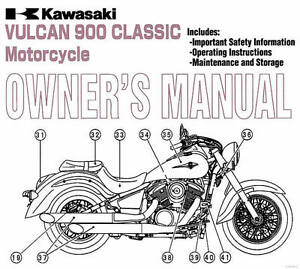2013 KAWASAKI VULCAN 900 CLASSIC MOTORCYCLE OWNERS MANUAL