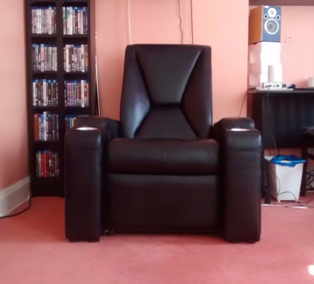 east london sofa cinema how to repair leather hole signature premiere home electric black