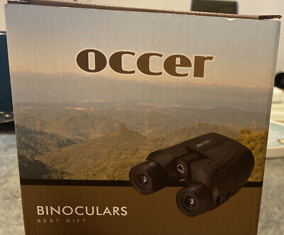 Occer 12x25 Compact Binoculars with Low Light Night Vision, Large Eyepiece High