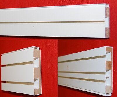 Gardinenschiene 1/2/3 läufig weiß mit Holzkern Innenlaufrollen U-Verbinder