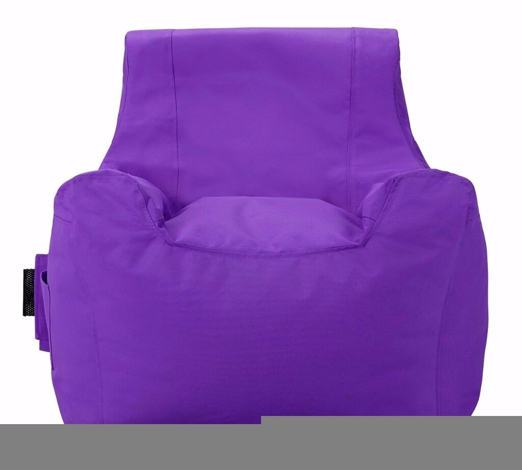 bean bag gaming chair argos adirondack chairs all weather colourmatch beanbag purple in hall green west