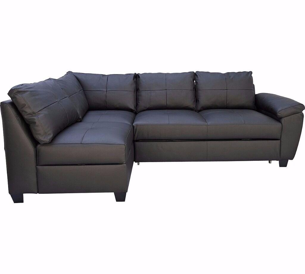 corner sofa bed london gumtree traditional leather sets fernando left hand black