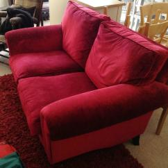 Ashley Red Leather Sofa 72 Inch Bed Recliner For Sale Used