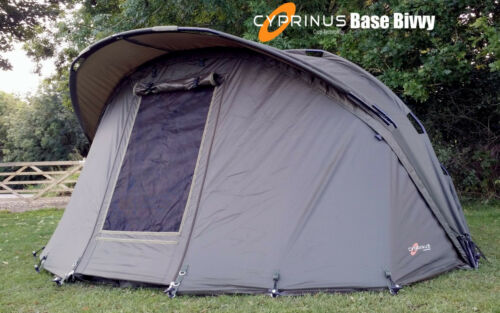 Cyprinus-Base-Bivvy-1-man-Carp-Fishing-Bivvy-shelter-WITH-OVERWRAP