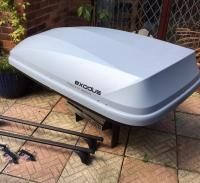 Halfords exodus 470l roof box and fixed point roof bars ...