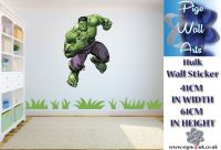 Incredible Hulk Wall Art Sticker Children's bedroom wall ...
