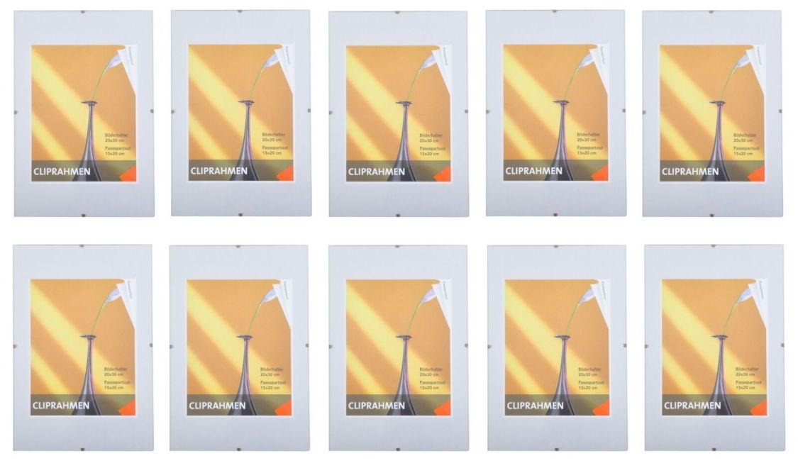 10er-Set Rahmenlos Bilderhalter Bilderrahmen 20x30 cm Poster Fotorahmen modern