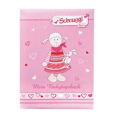 Schnuggi Baby Tagebuch in Rosa 21x28 cm 44 illustrierte Seiten Album