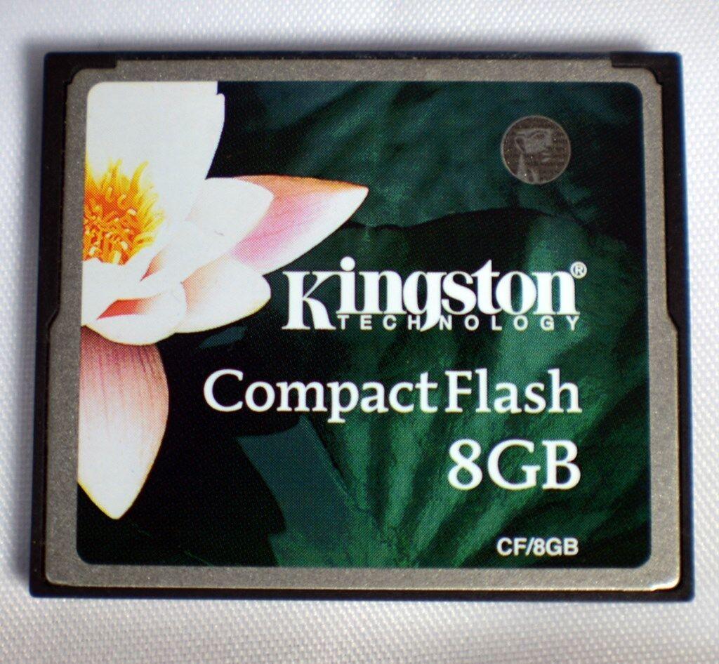 8 GB Compact Flash Card ( 8GB CF Karte ) KINGSTON gebraucht