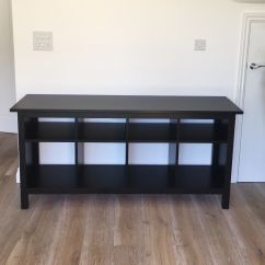 Ikea Gray Brown Sofa Table Tables With Drawers And Shelf Hemnes Console In Black Oxted