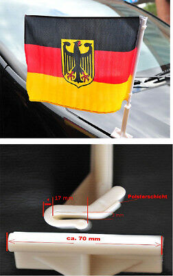 Deutschland Motorhauben fahne mit Adler Autoflagge Autofahne WM EM Fanartikel