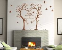 Family Love Heart Tree Wall Art Sticker, Wall Decal Tree ...