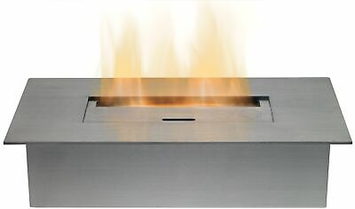 Modern Small Bio Ethanol Burner in Stainless Steel 1.5 Litre Capacity