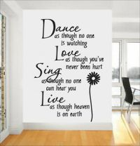 Dance Quote Wall Stickers