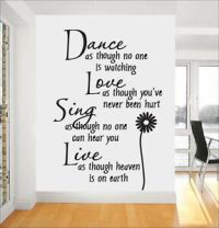 Dance Quote Wall Stickers | eBay