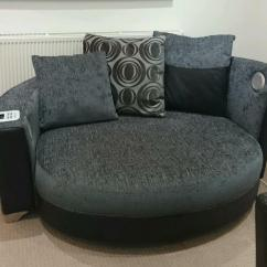 Black Leather Sofas On Gumtree Bloomingdale S White Sofa Helix Dfs Audio Cuddler - Reduced | In Sittingbourne ...