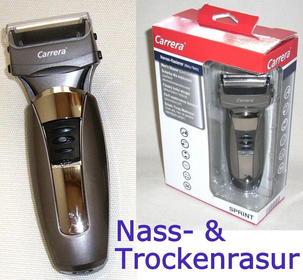 Carrera™ 9113021 Sprint Rasierapparat Akku-Netz Nass-Trocken Rasierer Abwaschbar