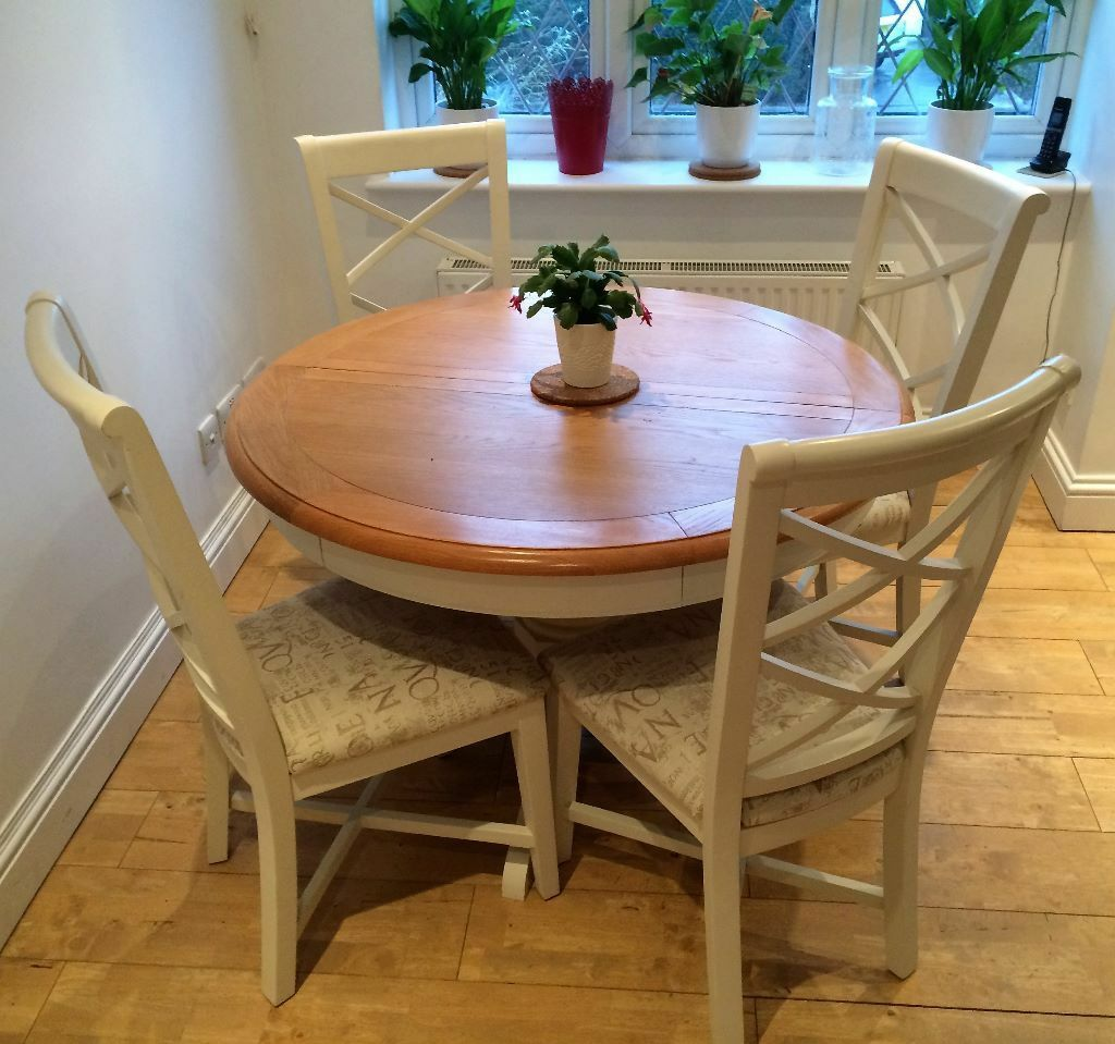 round oak table and chairs sleep recliner chair cargo hartham all wood extending dining 4