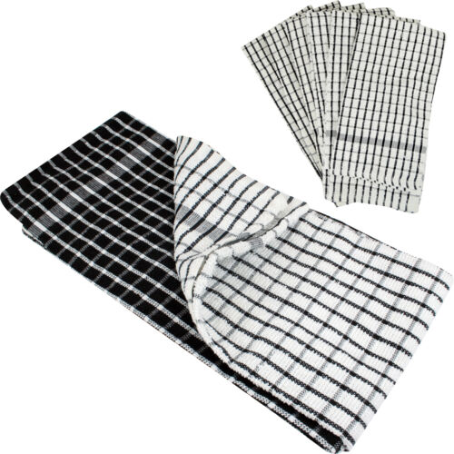 6 X TEA TOWELS 100% COTTON KITCHEN CLEANING DISH CLOTHS
