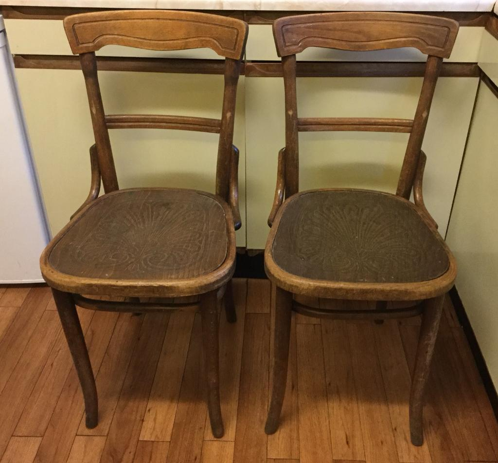 vintage bentwood chairs cheap tufted dining 2 x 1920 s for restoration upcycling project biggin hill kent tn16