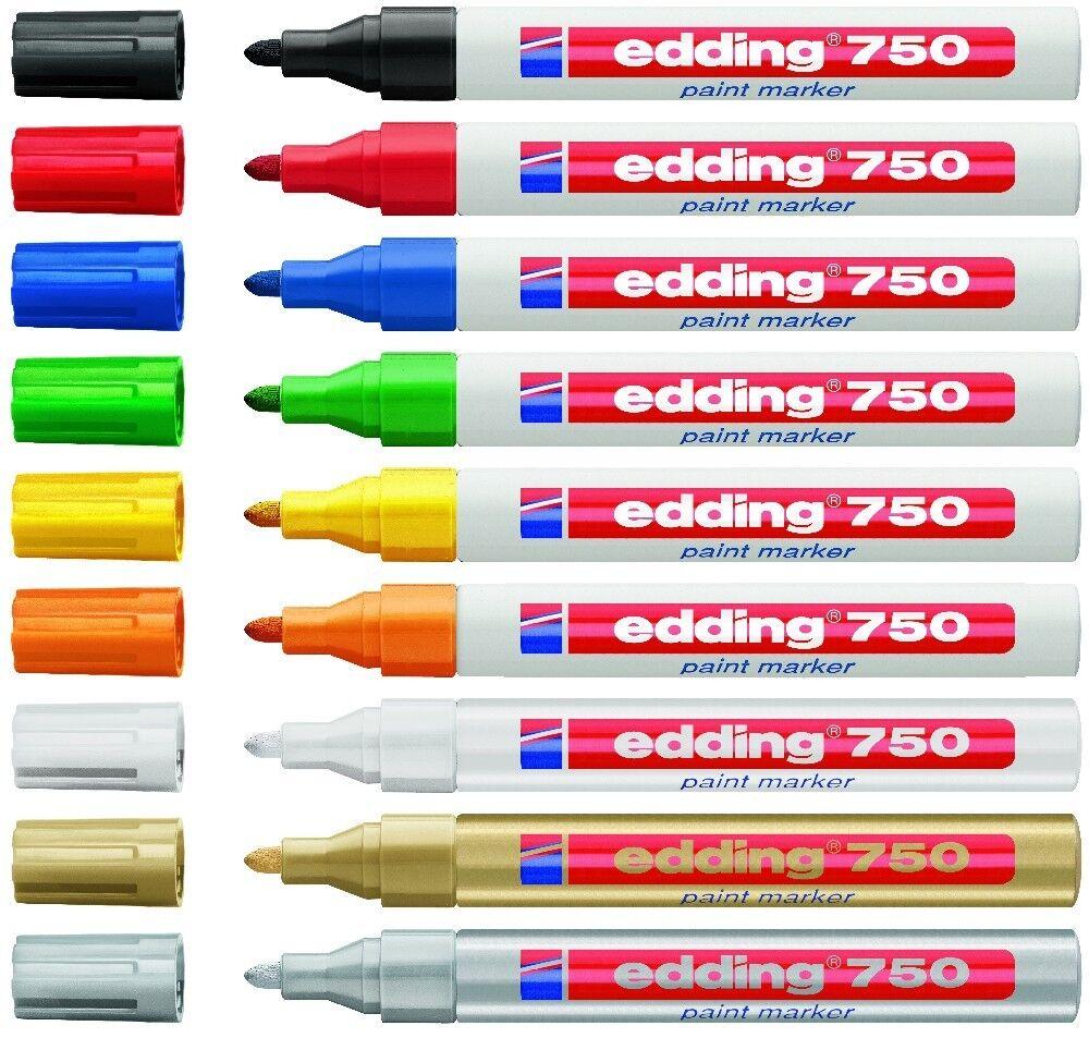edding 750 Lackmarker Paint Marker Rundspitze 2 - 4mm Farbe wählbar