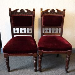 High Back Velvet Chair Uk Wedding Covers Cheshire Pair Of Antique Edwardian Ornate Carved Mahogany Dining