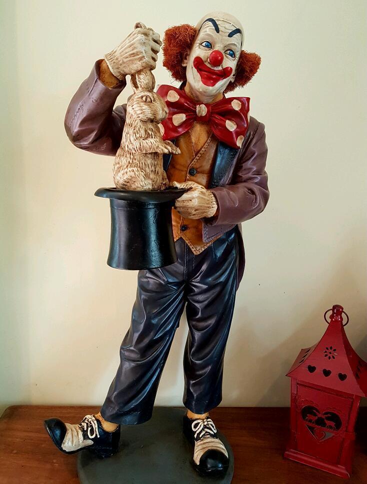 Large resin clown by Jun Asilo  in Paignton Devon  Gumtree