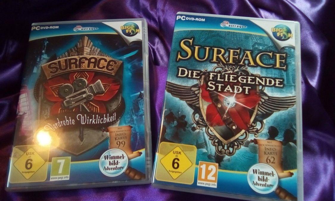 """PC Wimmelbildspiele,""""Surface"""" 2Stück, nur 1x installiert, Big Fish Games"""