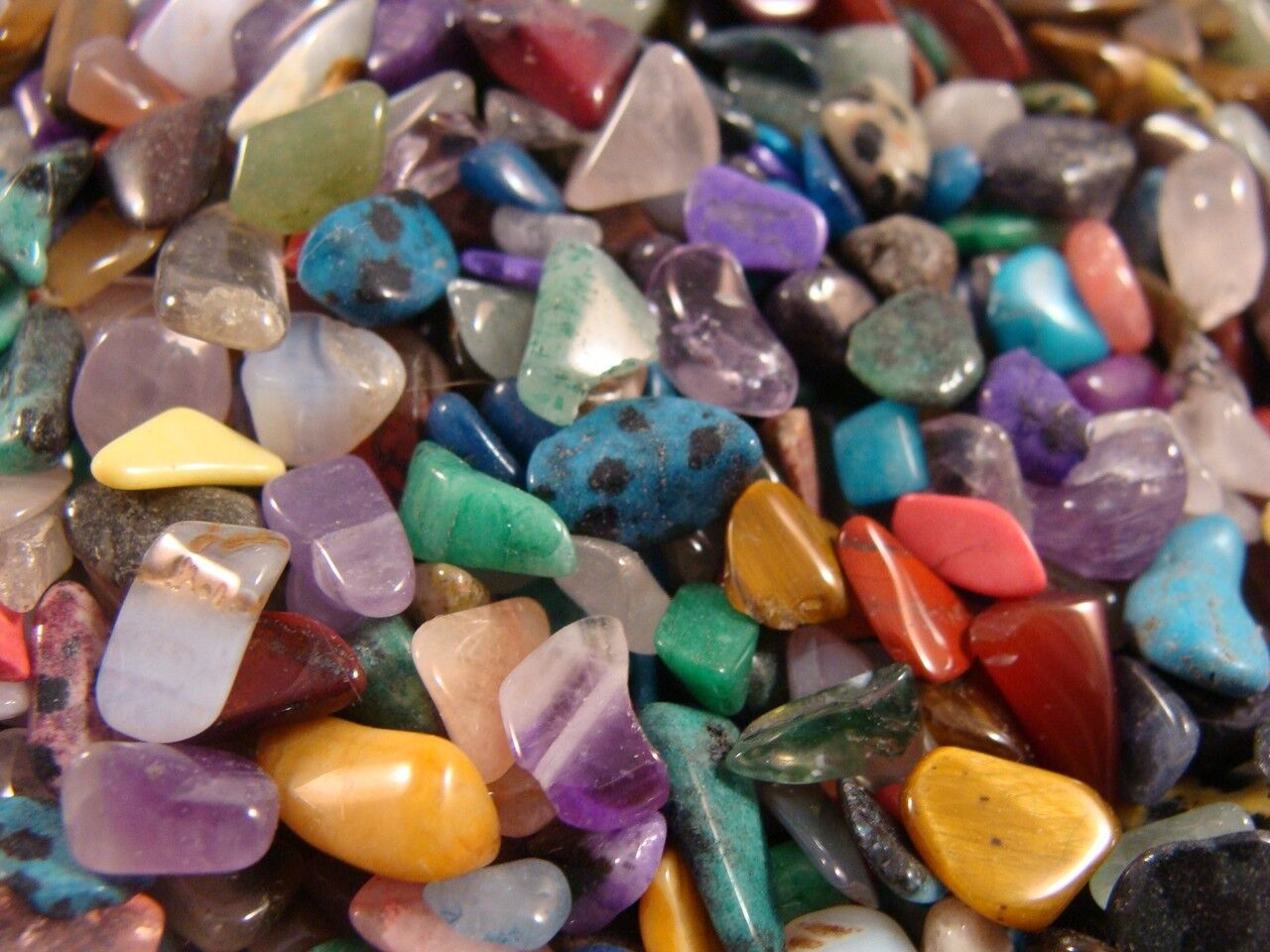 Tumbled and Polished Gemstones and Crystals  Size Tiny Size 1  1 LB Lots  eBay