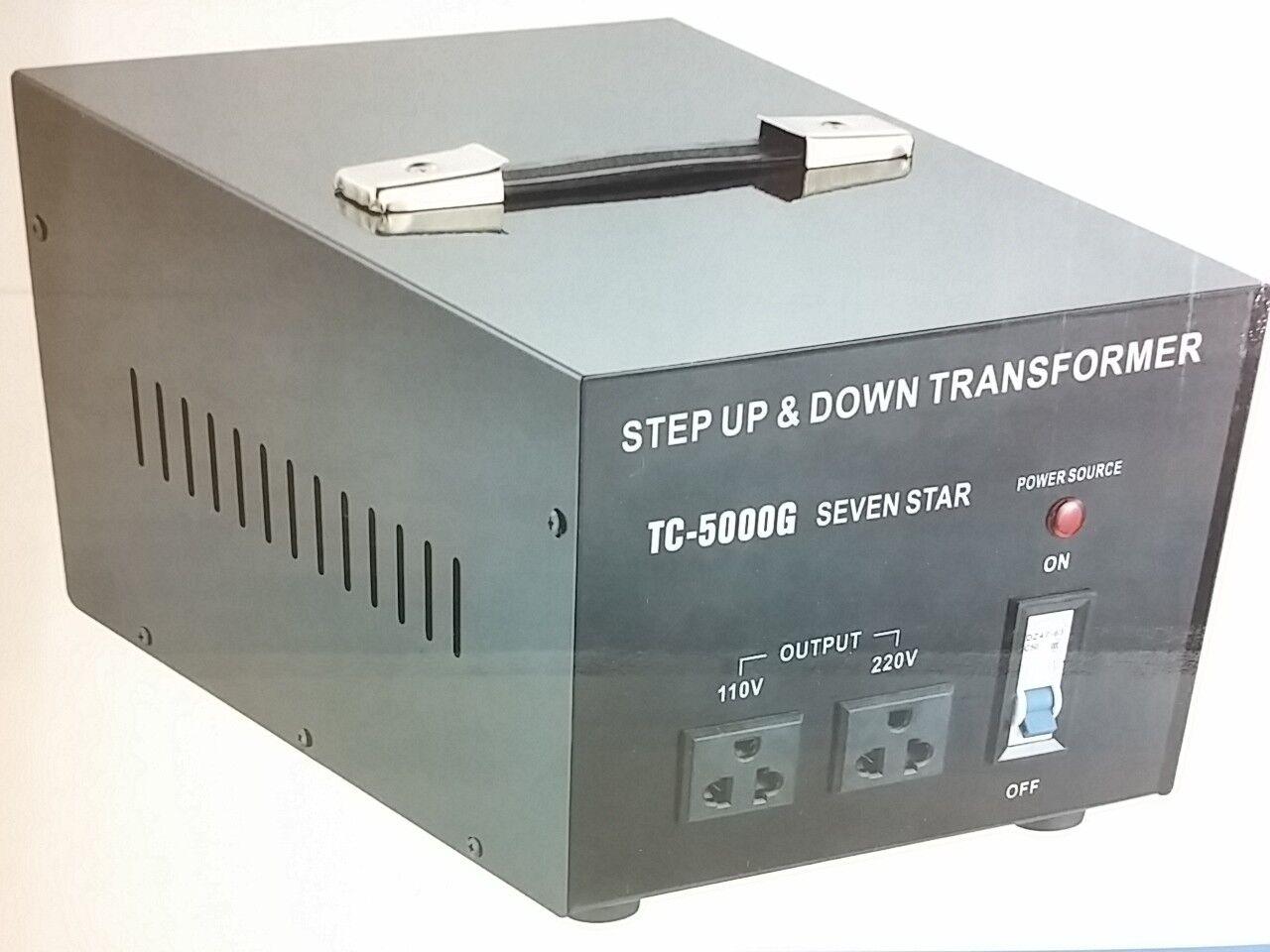 5000 Watt 110 220 Volt Voltage Converter Transformer 220v 110v 5000w