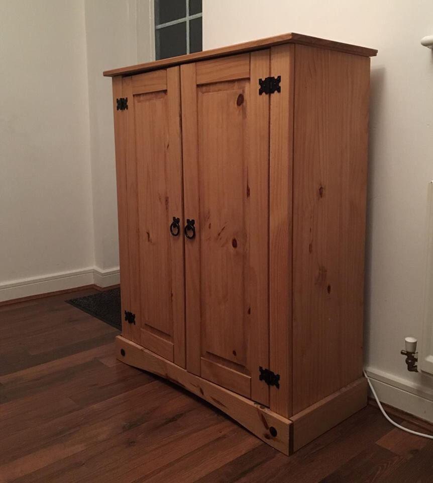 Shoe Storage Cabinet Antique Pine  in Bury Manchester