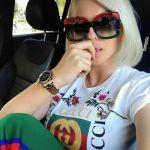 GUCCI Grey Gradient GG0083S 001 Square Red·Black·Green Original Sunglasses