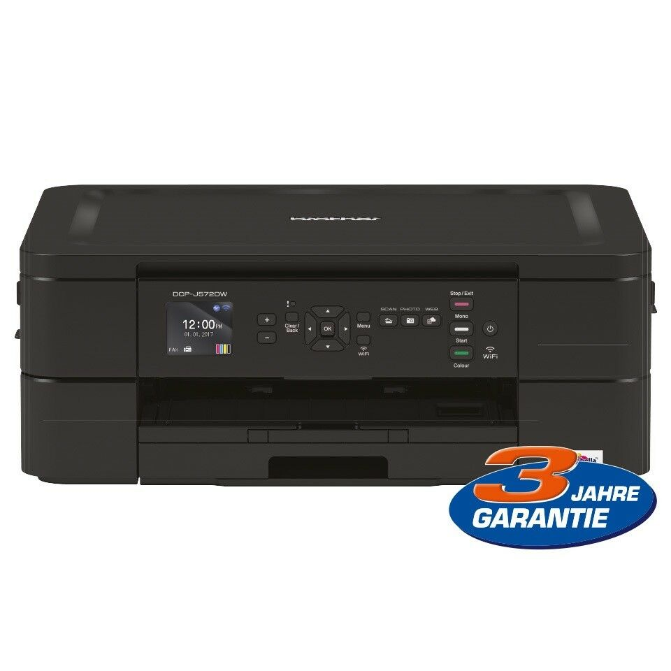 Brother DCP-J572DW Tintenstrahl-Multifunktionsgerät A4 3in1 Druck Kopie Scanner