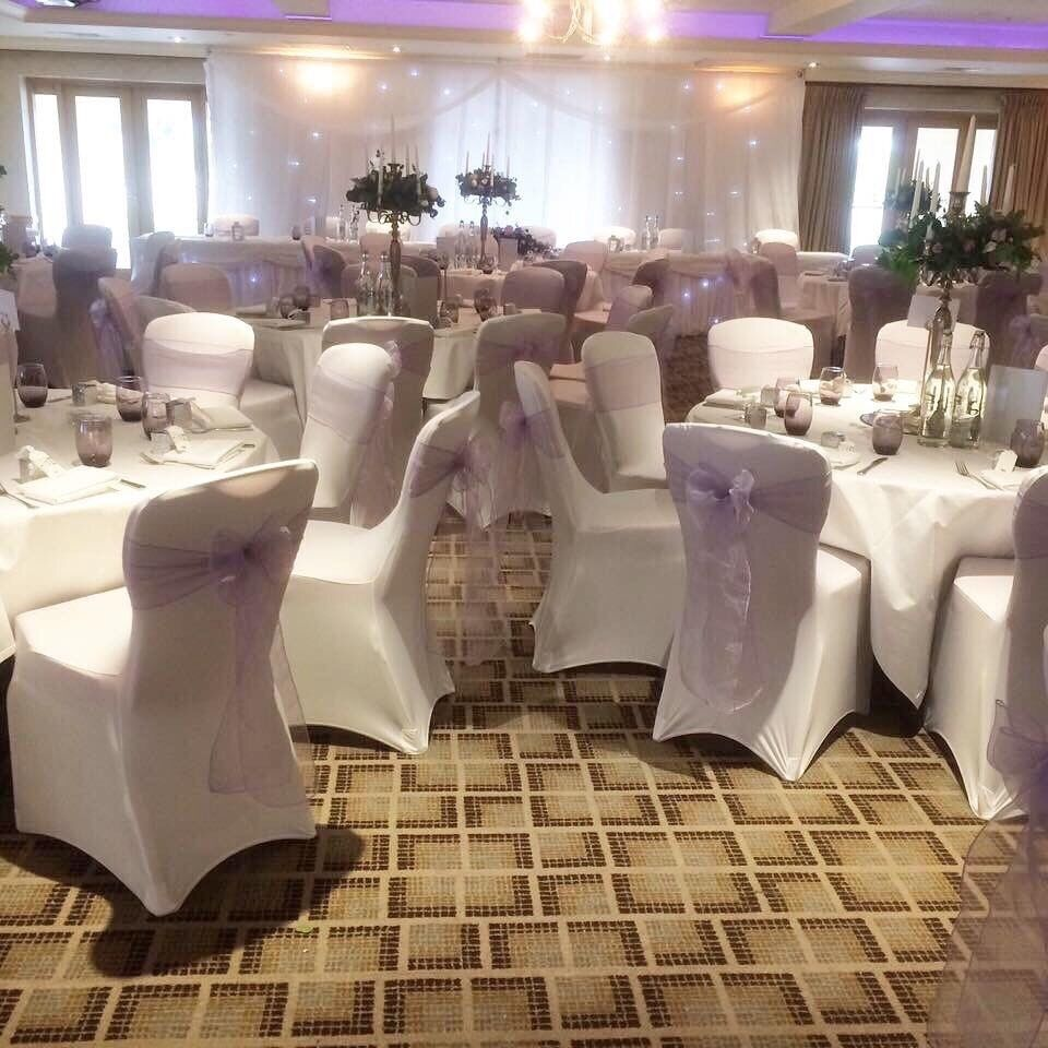 gumtree wedding chair covers for sale natuzzi leather chairs 50 white ex stock 25 in heywood