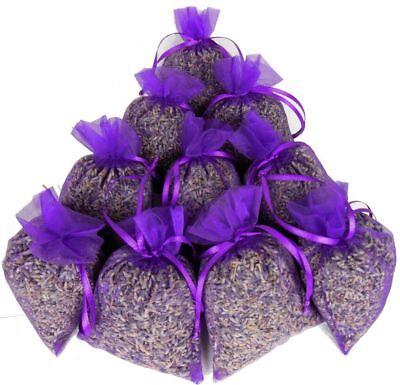 (49,95€/1kg) 10x Duftsäckchen Lavendelsäckchen Lavendel im Organzasäckchen