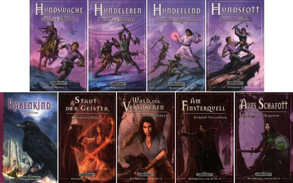 Bundle-9 x DAS SCHWARZE AUGE-DSA-inkl. Rabenkind-Abenteuer & Fantasy Romane-neu