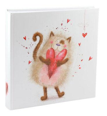 Cat Katze Fotoalbum 30x30 cm 100 weiße Seiten Baby Foto Album Fotobuch