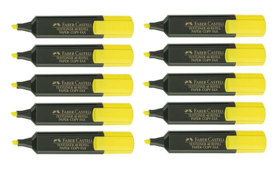 10 x Faber-Castell Textliner 48 Refill Textmarker 1 - 5 mm Marker, gelb