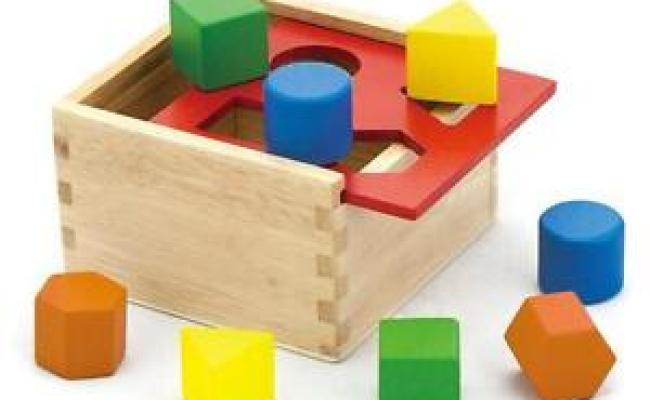 Childrens Wooden Shape Sorter Sorting Blocks Box Kids Wood