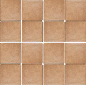 Piastrelle pavimento esterno gres porcellanato antiscivolo 15x15 Elba cotto  eBay