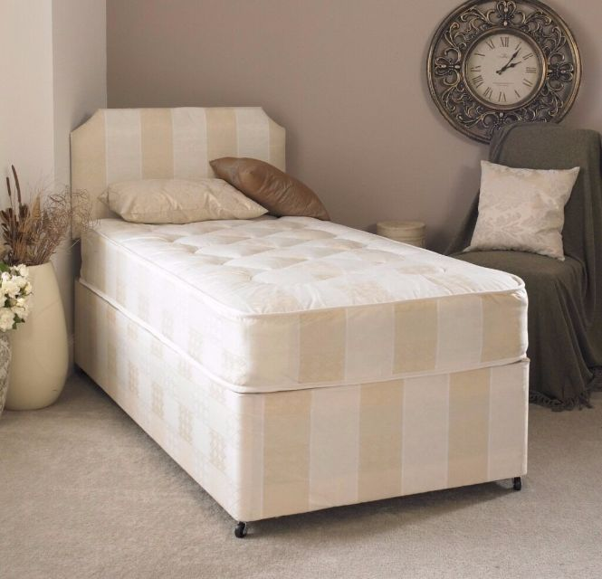 3ft Single Orthopaedic Divan Bed With Mattress Free Next Day Delivery Es London