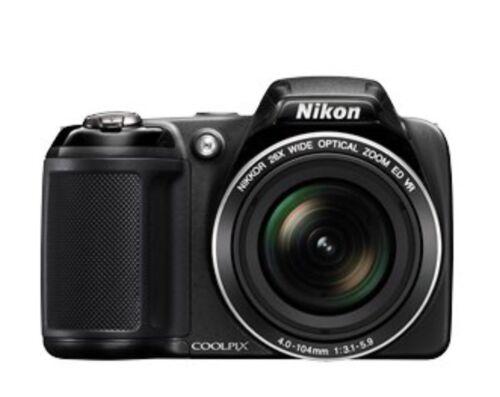 Nikon COOLPIX L330 20.2MP Kompaktkamera- Schwarz Selten genutzt
